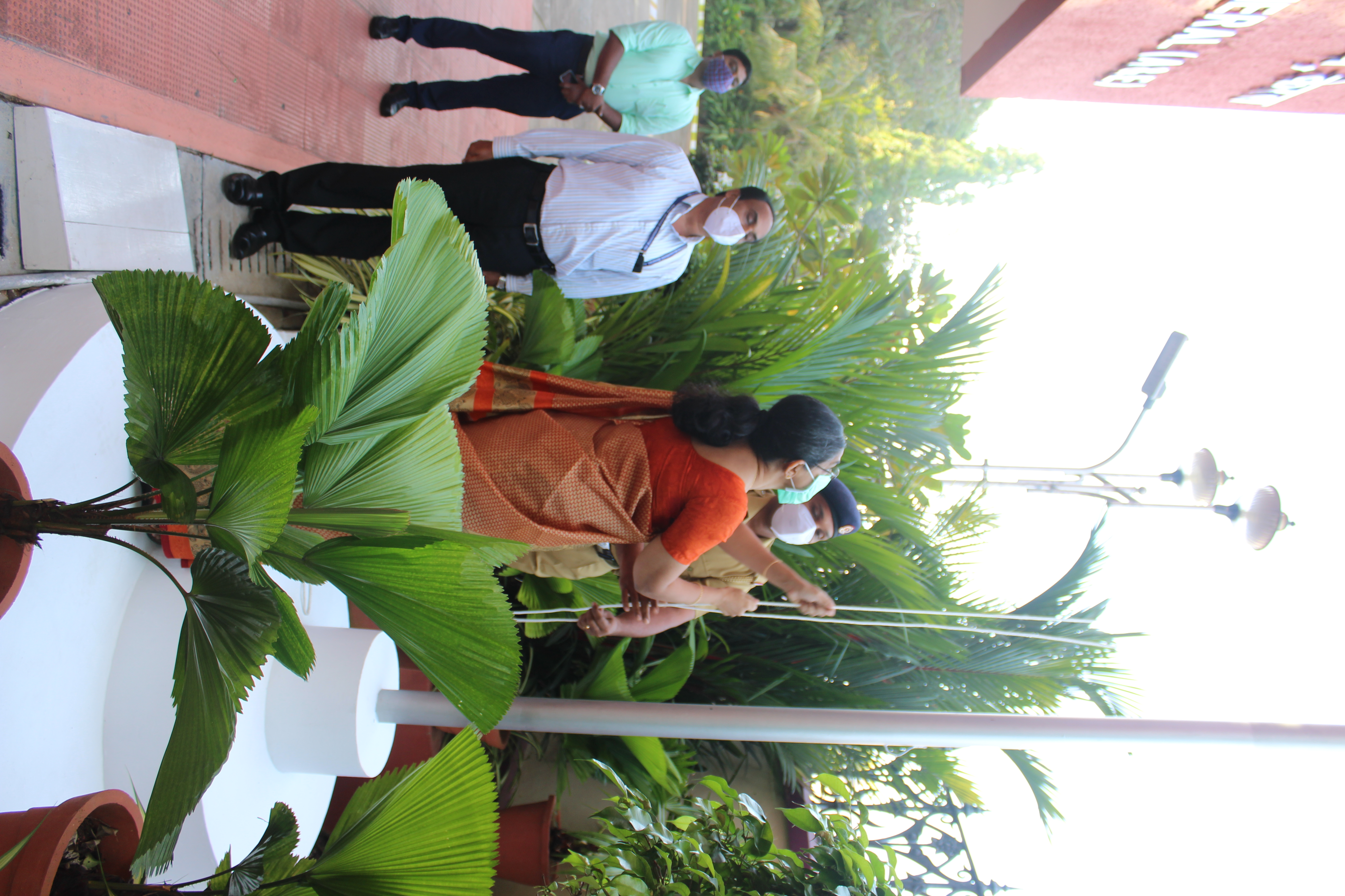 Flag Hoisting by Smt. Anim Cherian, Principal Accountant General
